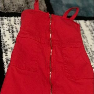 red dress with zipper